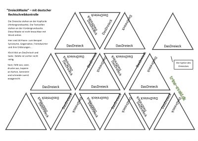 Dreieck Skabelon