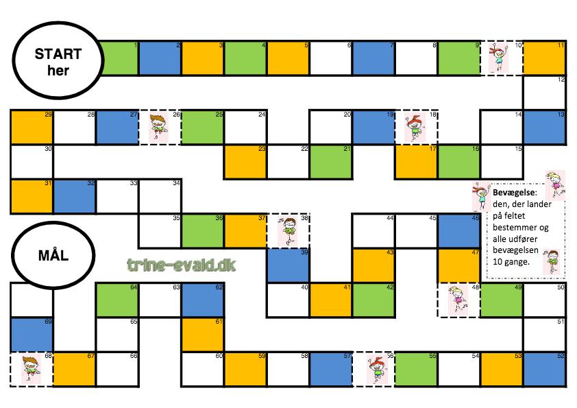 Spilleplade – Tre Farver