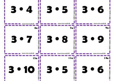 M&M, 3 tabel a